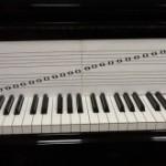 楽譜と鍵盤の位置は一致していますか?