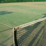 Hくん、最後の中体連。テニスの試合を見に行きました。